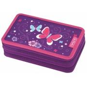 Penar echipat 2 compartimente 23 piese Purple Butterfly Herlitz