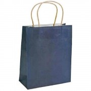 Pungi Cadou cu Model Albastru Inchis 25x10x30 cm, 100 Buc/Bax, Sacose si Plase din Hartie