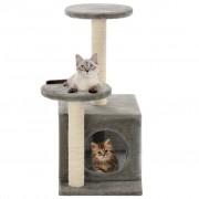 vidaXL Árvore para gatos c/postes arranhadores sisal 60 cm cinzento