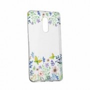 Husa Silicon Transparent Slim ButterFly - Flowers 95 Motorola MOTO Droid Turbo2 X Force