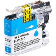 iColor Tinten-Patrone für Brother-Drucker (ersetzt LC-123C), cyan (blau)