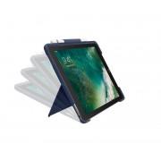 Logitech Slim Combo - Teclado e pasta de folio - retroiluminação - Apple Smart connector - QWERTY Espanhol azul clássico caixa