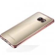 Wigento Premium TPU Silikoncase rosa för Samsung Galaxy S6 kant G925 G925F