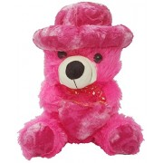 Valentine Best Gift Teddy Bear with Heart Soft Toy Plush Toy Figure Soft Toys for valentines day gift for boyfriend girlfriend - Smart Buy (Pink)