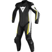 Dainese Assen One Piece Leather Suit Perforated Black White Yellow 50