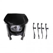 ELECTROPRIME Motorcycle 35W Headlight Dirt Bike Street Fighter Headlamp Black Fairing Kit
