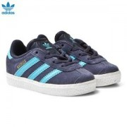 adidas Originals Midnight Grey Infants Gazelle Trainers Barnskor 24 (UK 7)