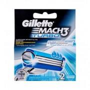 Gillette Mach3 Turbo 2 ks náhradné ostrie pre mužov