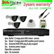 Ditsvision 4 HD CCTV camera set 1.3 mega pixel