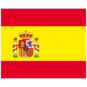 Bellatio Decorations 20x Vlag Spanje stickers 10 cm