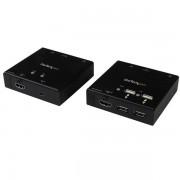 StarTech.com - Extensor HDMI por Cable CAT6 con Concentrador USB de 4 Puertos - 50m - 1080p