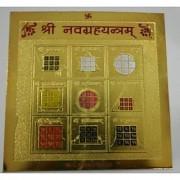Navgraha Yantra For Prosperity Gold Plated (energized)