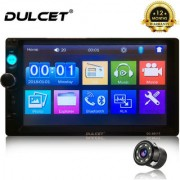 Dulcet DC-9911T Universal Fit Double Din 7 inch Full HD Touch Screen Car Stereo 8 LED HD Car Rear View Parking Camera
