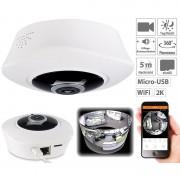 7links 360°-Panorama-IP-Überwachungskamera mit 2K-Auflösung, WLAN, Nachtsicht