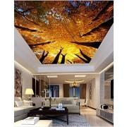LLWWRR1 Papel pintado 3D para el techo de la sala de estar o el recámara, diseño de paisaje estereoscópico, L350xW250cm