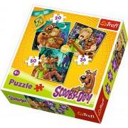 Puzzle Trefl 3 in 1 - Atentie la fantome, Scooby Doo