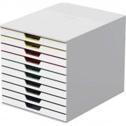 DURABLE Schubladenbox VARICOLOR® HxBxT 292 x 280 x 356 mm 10 Schubladen, weiß