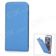 """WB-55PL Protector de piel de oveja Flip-Open caso para IPHONE 6 PLUS 5.5"""" - Azul"""