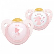 NUK Baby Rose Silicone Soother 2 pack - Size 1 (0 - 6 months)