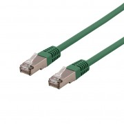 Deltaco Cat6a Nätverkskabel, 7m, grön