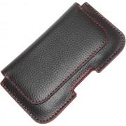 Maxy $$ Case Custodia Da Cintura Con Passante Klbelt-09 Universale Orizzontale Black-Red Per Modelli A Marchio Philips