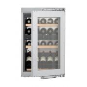 Vitrină de vin încorporabilă EWTdf 1653, 97 L, 30 sticle, Alarmă uşă, Siguranţă copii, Display, Control electronic, Iluminare LED, Rafturi lemn, H 89 cm, Clasa A