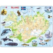 Puzzle Larsen - Iceland (in Icelandic), 81 piese (K7-IS)