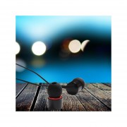 Audífonos Estéreo HD Manos Libres Deportivos, KDK-206 En El Oído Estéreo Bajo Deportes De Metal Auricular Earbud Para Smartphone (negro)