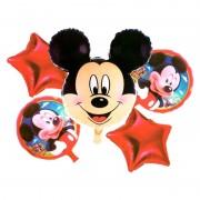 Set 5 baloane folie Mickey Mouse