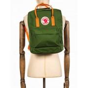 Fjallraven Kanken Classic Backpack - Leaf Green/Burnt Orange Colour: L