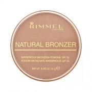 Rimmel London Natural Bronzer Waterproof Bronzing Powder Spf15 021 Sun Light 14G Per Donna (Cosmetic)