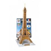 Puzzle 3D pentru copii, model tip Turnul Eiffel, dimensiuni 47x23x20cm