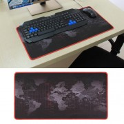 Anti-Slip World Map Pattern Soft Rubber Smooth Cloth Surface Game Mouse Pad Keyboard Mat Size: 60 x 30cm