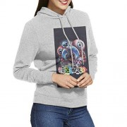 NOT Juice-WRLD Sudaderas Unisex con Capucha con Estampado 3D y Gruesas y de Terciopelo con Bolsillo para Mujer Adulta, Gris, XL