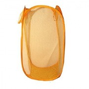 Kuber Industries Mesh Laundry Basket - Colour and Print might vary according to availibility