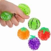 Random Colour Squishy Fruit Stress Relief Toy Squeeze Stressball Party Bag Fun Gift Funny
