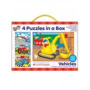 SET 4 PUZZLE-URI VEHICULE (4, 6, 8, 12 PIESE) (1004009)