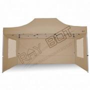 ray bot Gazebo pieghevole 3x4,5 beige professionale con finestre PVC 350g