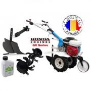 AGT 5580 HD Motosapa Premium cu motor Honda GX 200 cu plug de bilonat , roti pneumatice si ulei Honda