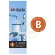Brabantia szemeteszsák 5l 20 db, B