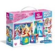 Puzzle cuburi Clementoni - Disney Princess, 12 piese (65271)