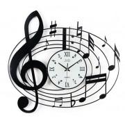 Kovové nástěnné designové hodiny JVD HJ03 pro hudebníky