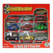 6th Dimensions Street Machine 10 Pack Gift Play Set For Rally Race Cars