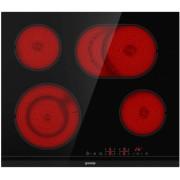 Стъклокерамичен плот за вграждане, Gorenje ECT643BCSC, Брой нагревателни зони: 4