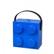 LEGO Lunch Box with Handle 4 Knob - Blue