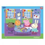 Puzzle Dino pe Placa Peppa Pig- 40 piese