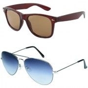 Zyaden Combo of Wayfarer Sunglasses Aviator Sunglasses (Combo-48)