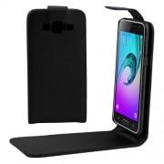 Samsung Galaxy J3 (2016) Case, J320 Case, J3109 Case, Plain Texture Vertical Flip Leather Case Waist Bag with Magnetic Buckle(Black)