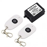 Relay Switch DC 12V Wireless RF Remote Control Switch 433Mhz One 1-Channel with Two Transmitters