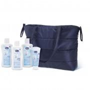 Chicco babybag borsa per portare tutto il necessario set confezione fasciatoio da viaggio - shampoo - bagnoschiuma - latte detergente - crema viso